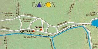 Davos Map with the Location of the Hotel Cresta Sun