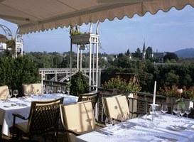 View from the Terrace at the Hotel Bellevue Palace in Bern, Switzerland