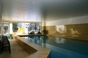 indoor swimming pool at the Cresta Sun Hotel in Davos, Switzerland
