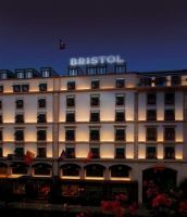 Entrance at the Hotel Bristol, Geneva, Switzerland