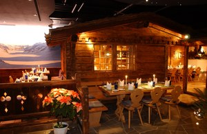 "Restaurant ""Barry's"" at the Hotel Eiger Grindelwald, Switzerland"