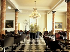Lounge at the Palace Hotel in Luzern, Switzerland