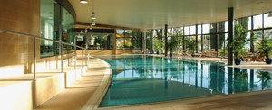 indoor Pool at the Montreux Palace Hotel in Montreux, Switzerland