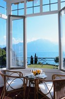 View at the Fairmont Le Montreux Palace Hotel in Montreux, Switzerland
