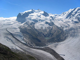 Dufourspitze - the highest point in Switzerland