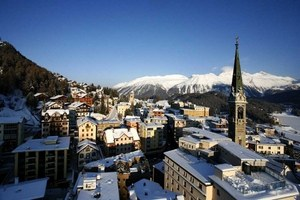 St. Moritz - the world class ski- and mountain resort in the Engadin, Switzerland